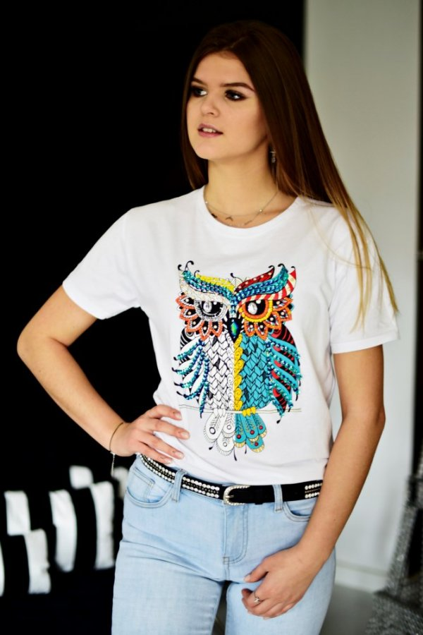 T-shirt owl white
