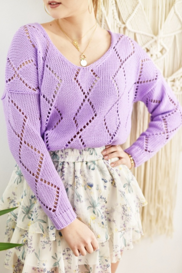 Sweter airdrie fioletowy