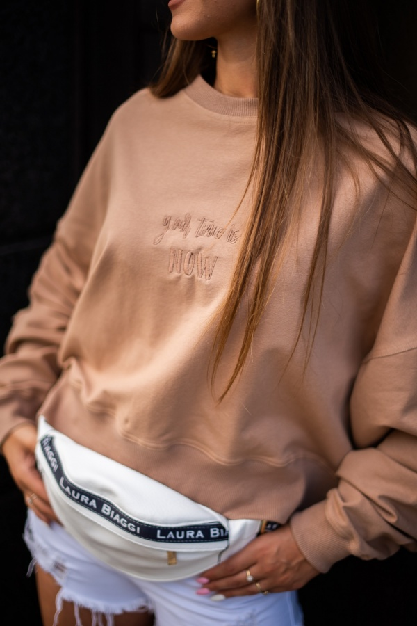 Bluza your time camel