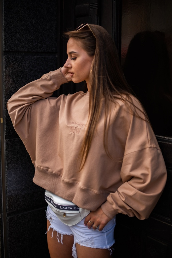 Bluza your time camel 1