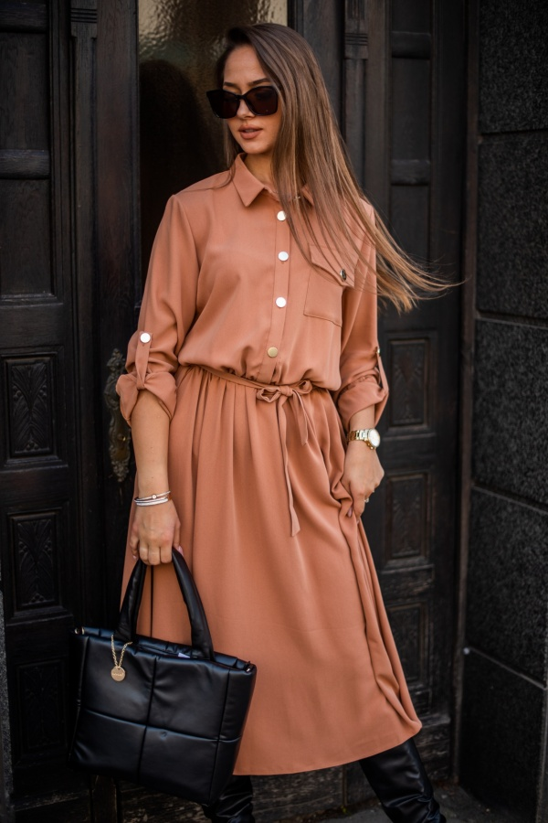 Sukienka ladiva long camel