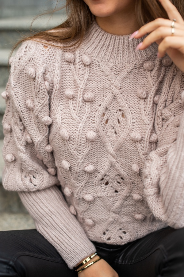 Sweter lily puder