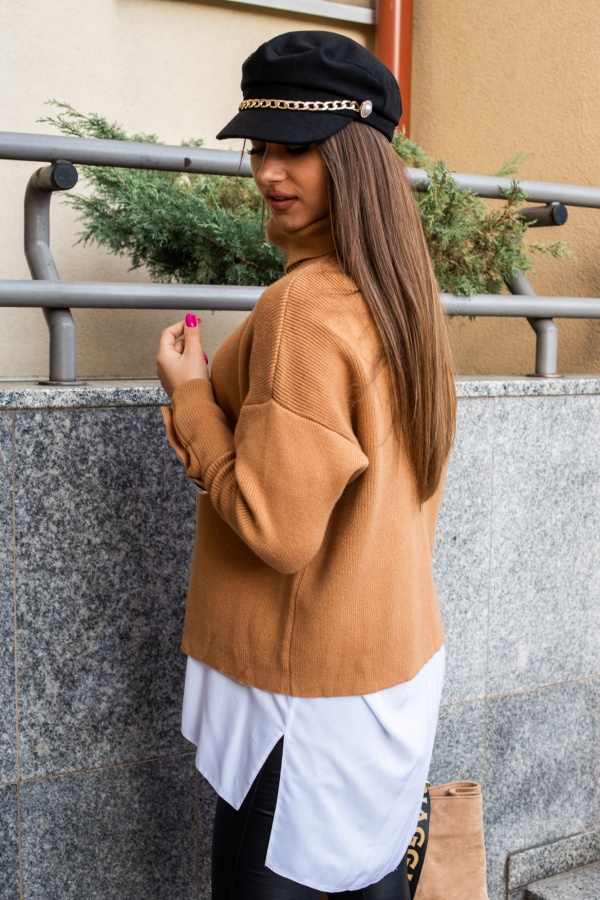 Sweter buttons beżowy 4
