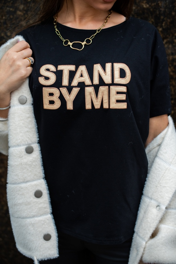 T-shirt Stand by me czarny