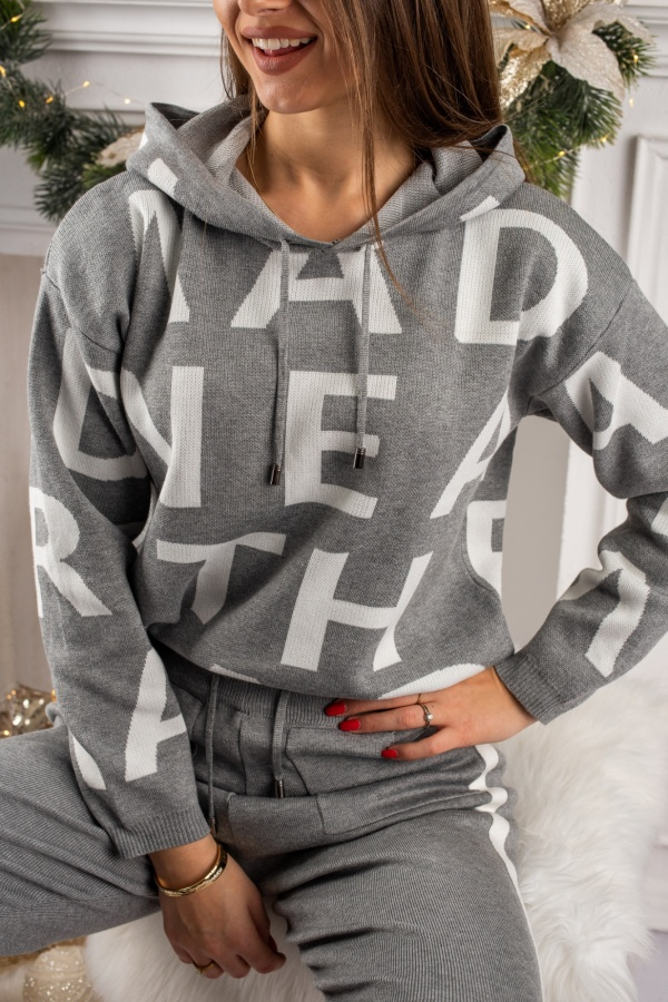 Dres letters szary 1