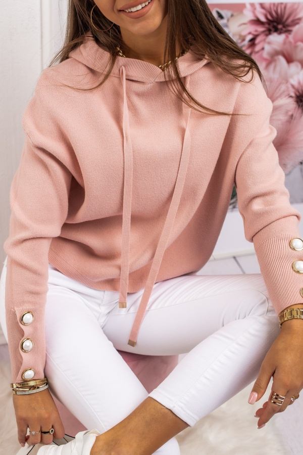 Sweter pearl pudrowy