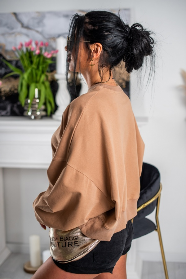 Bluza your time camel 2